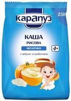 Молочная каша Карапуз Рисовая с тыквой, 250 г