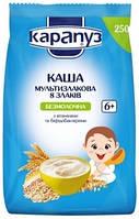 Безмолочная мультизлаковая каша Карапуз 8 злаков с бифидобактериями и витаминами, 250 г