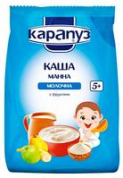 Молочная каша Карапуз Манная с фруктами, 250 г