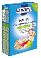 Безмолочная мультизлаковая каша Карапуз 5 злаков с яблоком и бананом, минералами и витаминами, 250 г