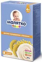 Каша молочная Малятко рисово-кукурузная с бананом, 200 г