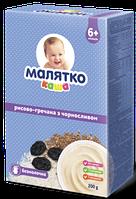 Безмолочная каша Малятко рисово-гречневая с черносливом, 200 г
