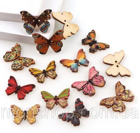 Метелики мікс 10 шт. (20х28 мм)