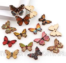 Бабочки микс 10 шт. (20х28 мм)