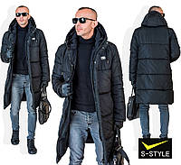 Мужская удлиненная зимняя куртка