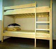 Деревянная двухэтажная кровать 190х80