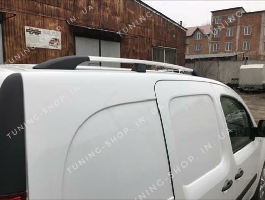 Рейлинги на крышу Renault Kangoo 2008-2017 серый металлик, стандартная база