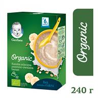 Молочная каша Gerber Organic Пшенично-овсяная с бананом, 240 г