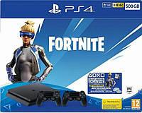 Игровая приставка Sony PlayStation 4 Slim (PS4 Slim) 500GB + Fortnite + DualShock 4