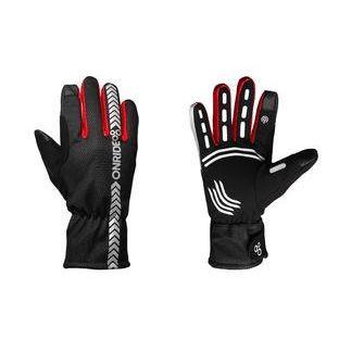 Рукавички ONRIDE Kaplan колір червоний/чорний розмір XL