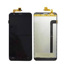 Дисплей (экран) для BQ BQS-5505 Amsterdam с сенсором (тачскрином) черный