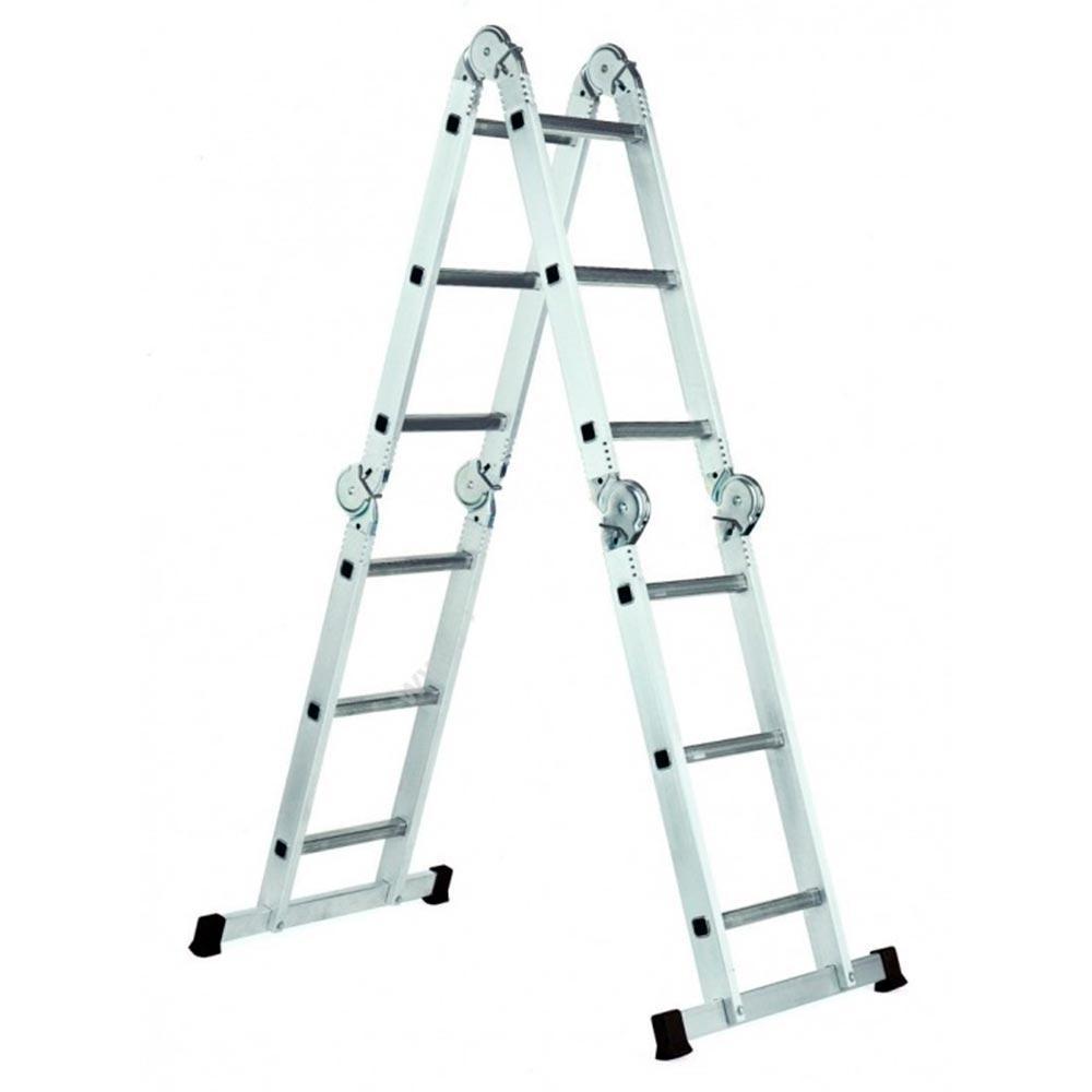 Лестница шарнирная трансформер 4х3 ступ,3.5 м, Werk LC2412Q (35271)