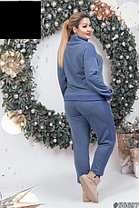 Женский теплый прогулочный брючный костюм размеры: 48-54, фото 3