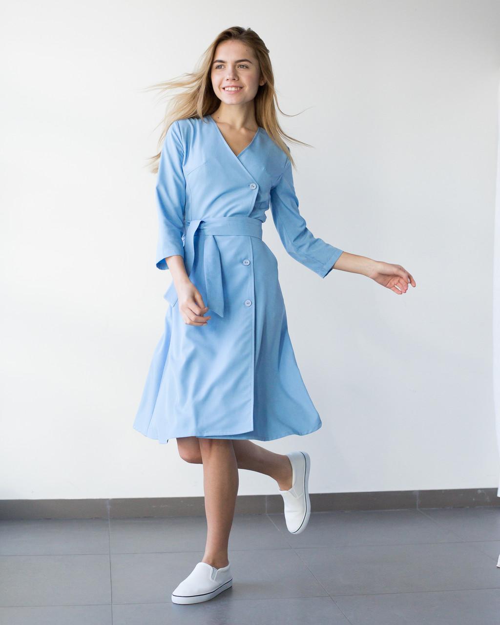 Медицинское платье Прованс голубое