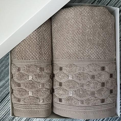 Набор махровых полотенец Sikel 50х90 и 70х140 см темно-серый, фото 2
