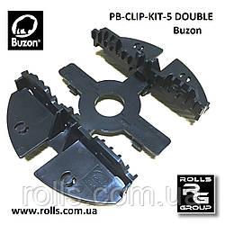 PB-CLIP-KIT-5 (DOUBLE) Кріплення для лаг шириною 75мм на регульовані опори Buzon серія PB (Бельгія)