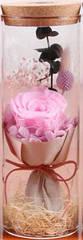 Роза в колбе с LED подсветкой БОЛЬШАЯ - Розовая