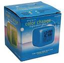 Настольные часы хамелеон Куб Color change, фото 5