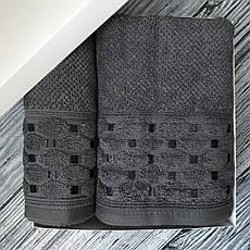 Набір махрових рушників Sikel 50х90 і 70х140 графітовий, фото 3