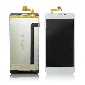 Дисплей (экран) для Oukitel U7 Pro с сенсором (тачскрином) белый