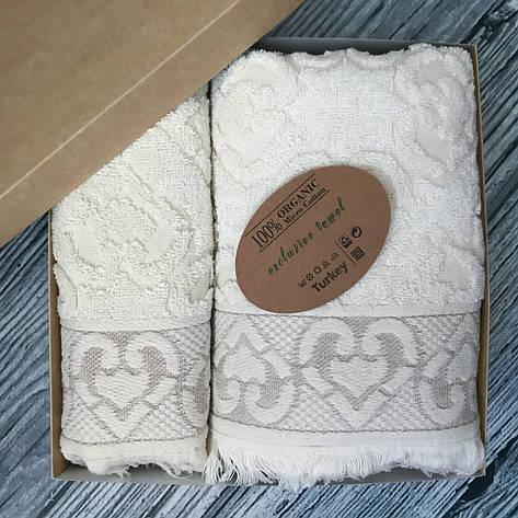 Набор махровых полотенец Cestepe 50х90 и 70х140 см Organik, фото 2