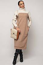 Женское теплое платье-миди под горло (Эрин-Микс ri), фото 2