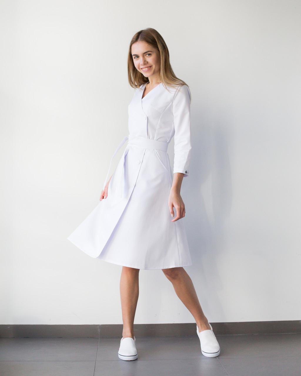 Медицинское платье Прованс белое