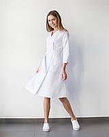 Медицинское платье Прованс белое, фото 1