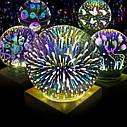 Ночник стеклянный шар подсветка в виде звездного света, фото 3