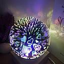 Ночник стеклянный шар подсветка в виде звездного света, фото 5