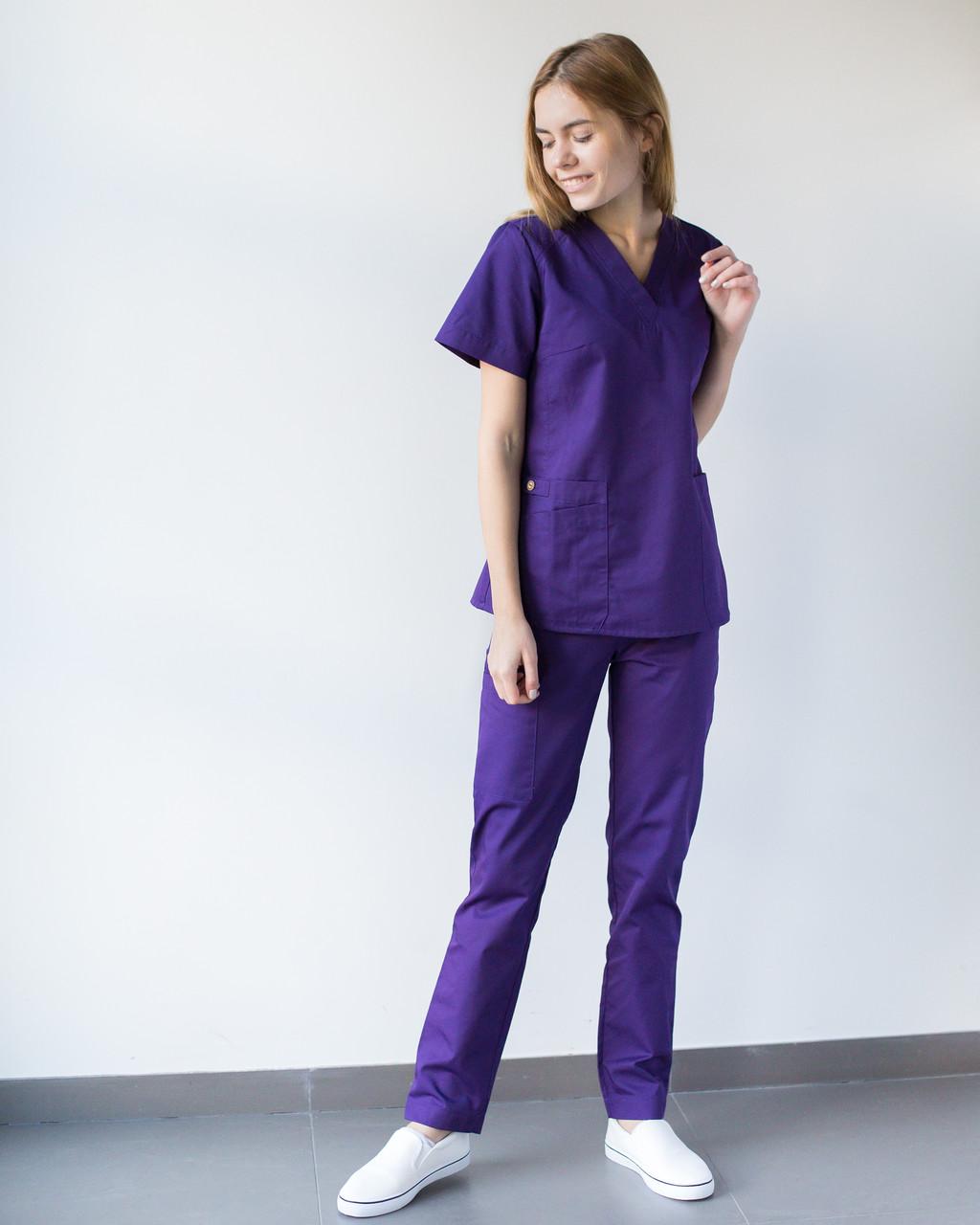 Медицинский женский костюм Toronto violet