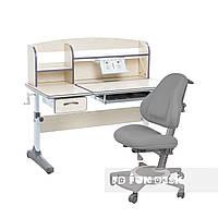 Комплект для школьников растущая парта Cubby Ammi Grey + ортопедическое кресло FunDesk Bravo Grey