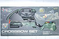 Детский арбалет с лазерным прицелом, мишенью и стрелами, в коробке, фото 1