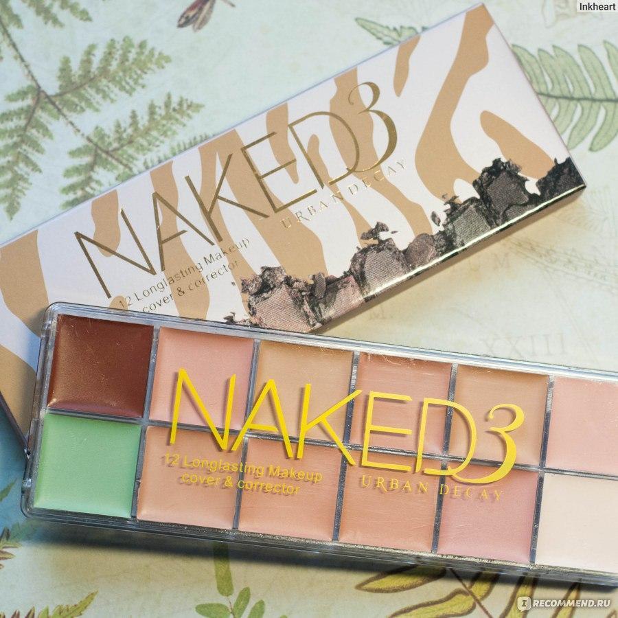 Палітра кремових консилерів 12 відтінків Naked3 для макіяжу репліка