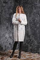 Пальто из белого тибетского ягненка и кашемира