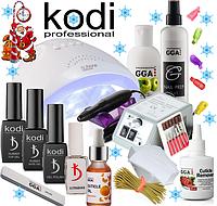 Стартовый набор Kodi Professional для покрытия гель лаком с Лампой Sun One 48 W с Фрезером Lina