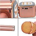 Беспроводной караоке микрофон WS1818 с чехлом - Розовый, фото 2