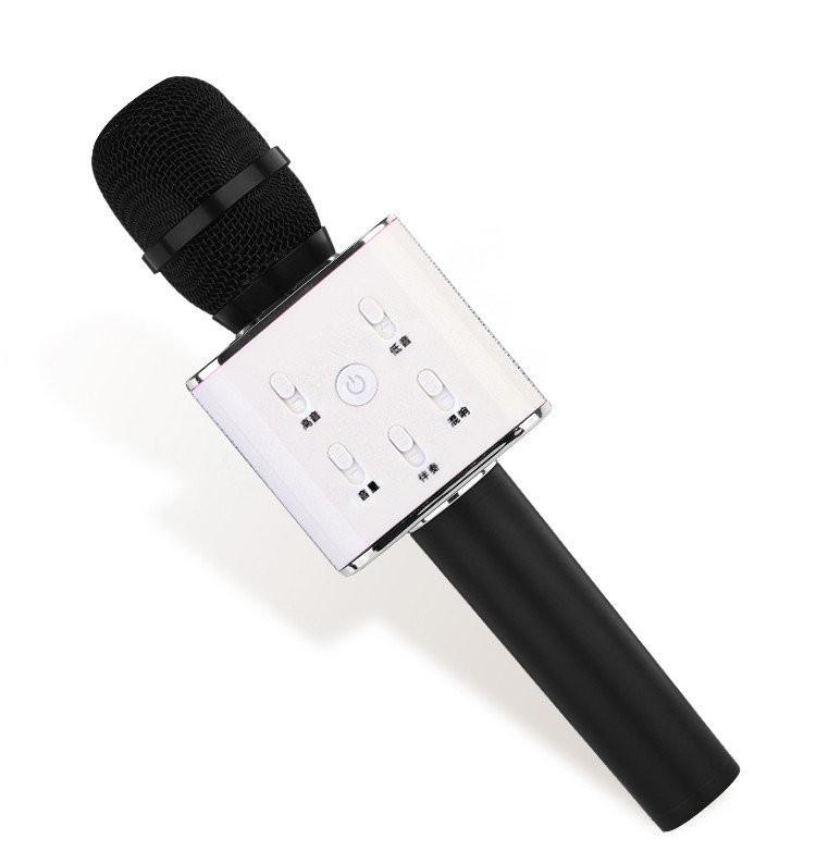 Беспроводной караоке микрофон Q7 с чехлом - Черный
