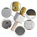 Беспроводной караоке микрофон Q7 с чехлом - Золотой, фото 2