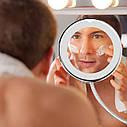 Гибкое увеличительное зеркало для макияжа  со светодиодной подсветкой Flexible Mirror, фото 4