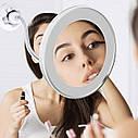 Гибкое увеличительное зеркало для макияжа  со светодиодной подсветкой Flexible Mirror, фото 5