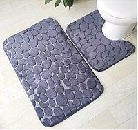 Набор ковриков для ванной комнаты с эффектом памяти 3 шт