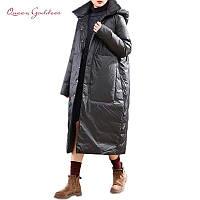 Теплая и тонкая зимняя женская куртка с капюшоном прошитая. Slimtex hollowsoft до -25 Размеры от 42-72+ батал