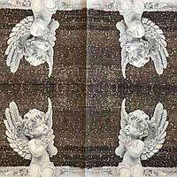 """Салфетка декупажная 33x33 см 6 """"Статуэтка ангел молится статуя сувенир"""" Серветка для декупажу ангел"""