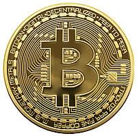 Сувенирная монета Биткоин (Bitcoin) - Золото