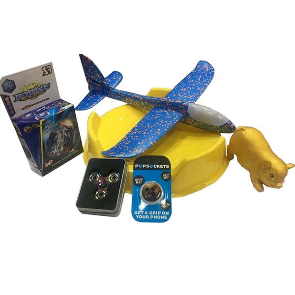 Набор: Арена №4 + Бейблейд Вайс Леопард B-118 + самолет синий + спиннер №41 + сквиш №56 + попсокет №38