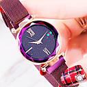 Женские часы Starry Sky Watch на магнитной застёжке Фиолетовые, фото 3