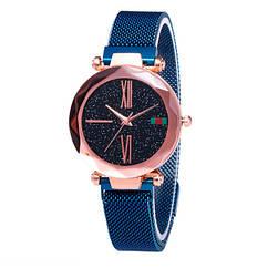 Жіночі годинники Starry Sky Watch на магнітній застібці Сині