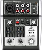 USB-Микшерный пульт BEHRINGER XENYX 302