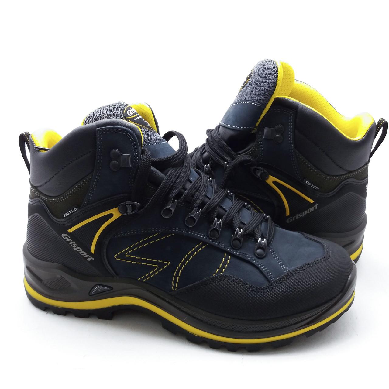 Итальянские ботинки зимние мужские Grisport натуральный нубук мембрана Spo-Tex
